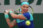 Svetlana Kuznetsova makes her points with power. Photo / AP