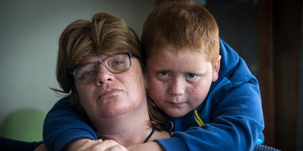 Shona Maiden, pictured with her son Johnny Maiden, 7. Photo / Jason Oxenham
