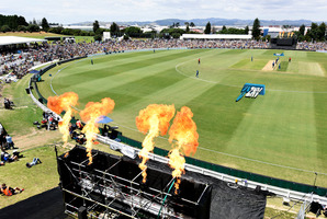 A 7000-strong crowd turned out to watch the Black Caps take on Sri Lanka at Bay Oval on Tuesday.