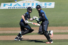Selector Gavin Larsen made it clear Martin Guptill and Kane Williamson are the first choice pair. Photo / Mark Mitchell