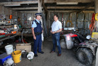 Federated Farmers Bay of Plenty provincial president Rick Powdrell and Te Puke Police Sergeant Mark Holmes want to urge people to report every crime and suspicious activity.  Photo/File.