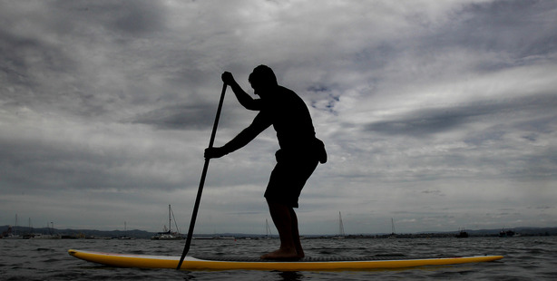 UPRIGHT: Paddle boarding is a crazy pursuit writes Mark Story,
