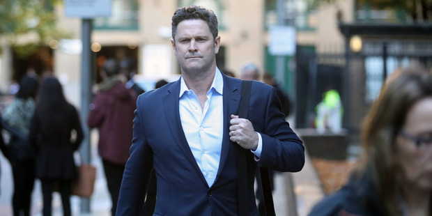 Chris Cairns arrives at Southward Crown Court in London. Photo / Chris Gorman