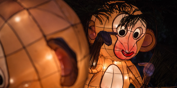 Auckland's Chinese Lantern Festival will this year be moving from Albert Park. Photo / Gareth Cooke