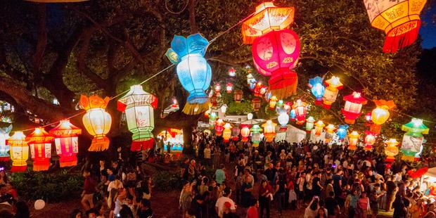 People flock to the annual Lantern festival held in Albert Park. Photo / Steven McNicholl