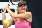 Injured defending champion Maria Sharapova has withdrawn from the Brisbane International. Photo / NZPA