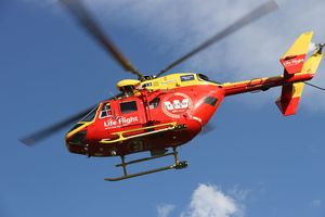 The Westpac Rescue Helicopter was called out to help an injured man off the rocks.