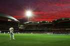 Cricket's first day-night test at Adelaide was a big success, although some are concerned the pink ball swings more during night sessions. Photo / Getty Images