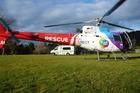 Tauranga-based Trustpower TECT Rescue Helicopter airlifts injured patient to Whakatane Hospital. File photo.