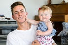 Noa Woolloff says his relationship with Kyla's mother is good and he intends to pay for all of his daughter's nappies and formula with earnings from part-time work and coaching. Photo / Mark Coote