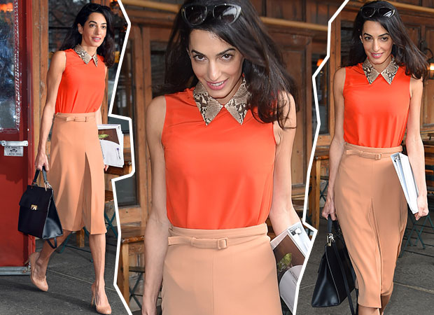 Amal Clooney gets lunch at a restaurant in New York. Photos / Getty Images