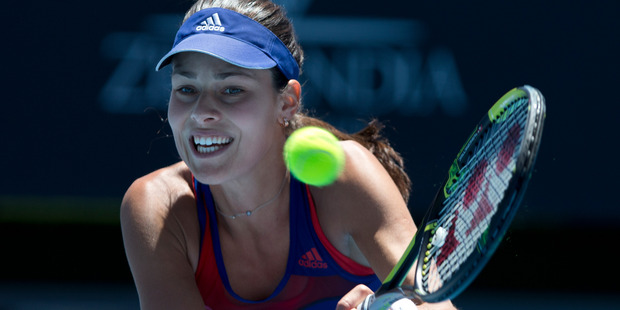 Ana Ivanovic also takes the court today, in a first round doubles match.