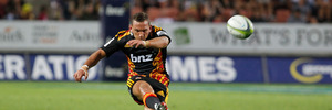 Aaron Cruden will co-captain the Chiefs with Sam Cane. Photo / Christine Cornege.