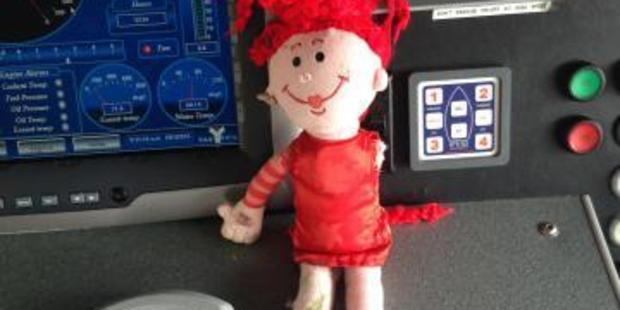 The doll was located in the sea near Taranaki Street Wharf. Photo / NZ Police