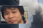 Dennis Mallari says when he saw his rescuers' shadows he knew he would escape the blaze engulfing The Address Downtown Skyscaper. Photo / Supplied, AP