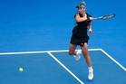 OUT: Marina Erakovic plays a forehand in her singles match against Alexandra Dulgheru. PHOTO/GETTY IMAGES
