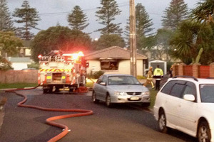 A Fire Service spokesman said the fire has been extinguished but one person was in a critical condition.
