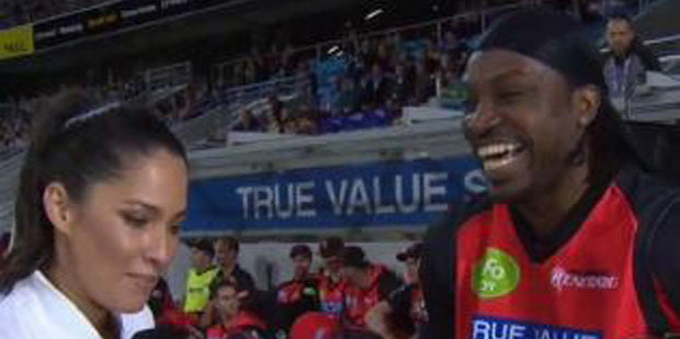 Chris Gayle's now-famous interview.