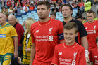 Steven Gerrard leads the Liverpool Legends. Photo / AP