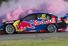 Van Gisbergen giving his new car a workout.Source:Supplied