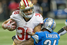 Jarryd Hayne playing against the Detroit Lions. Photo / Getty