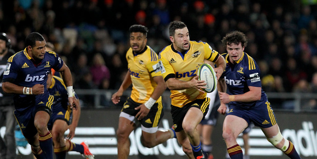 James Marshall in action against the Highlanders last season. Photo / Duncan Brown