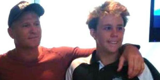 Australian boxing champion Danny Green with Brisbane teen Cole Miller who died due to head trauma. Photo / Supplied