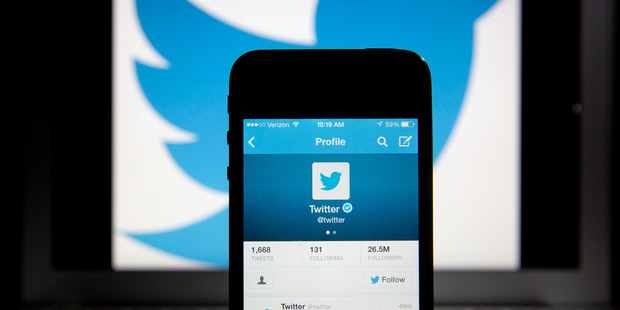 In August, Twitter removed the 140-character limit for direct private messages sent between users. Photo / Bloomberg