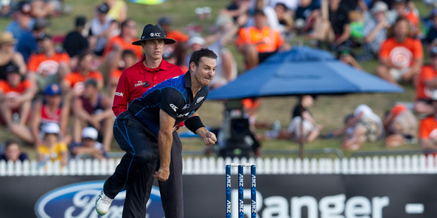 Nathan McCullum is set to lead the charge for the New Zealand spinners at the World T20. Photo / Christine Cornege.