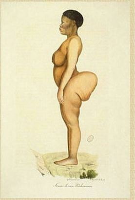 Saartjie Baartman also known as the Hottentot Venus, who was made to perform in a freak show against her will.