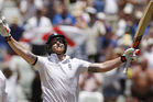 Ben Stokes celebrates reaching 200 against South Africa. Photo / AP