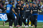 Trent Boult celebrates a wicket during the Cricket World Cup final. Photo / Brett Phibbs