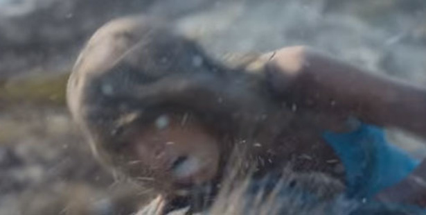 Taylor Swift battles the elements in the Southern Alps. Photo / Screengrab
