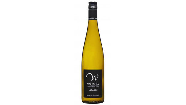 A bottle of Waimea Albarino - one of the hottest new wines in NZ.