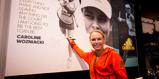 Tennis star Caroline Wozniacki took part in an ASB Classic pre-tournament exhibition match on the streets of Broadway, Newmarket. Photo / Dean Purcell