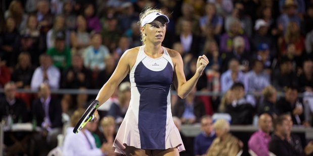 Loading Caroline Wozniacki is set to face  Sloane Stephens in the ASB Classic semifinals. Photo / Nick Reed