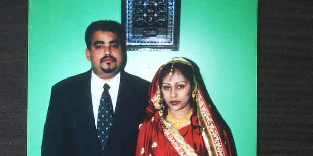 Pakeeza with her first husband Mohammed Faizal. Photo / Supplied