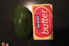 The whopper 411g feijoa that was grown in Morrinsville. Photo / Nicky Pizzini