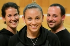 Barbara Thompson (centre) is an exciting work in progress with co-coaches Charissa Barham and Kane Makea for the Super 6 cauldron. Photo / Warren Buckland