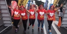 RED TRAILS: A group of Far North women featured in the Go Red team to take part in the Jennian Homes Paihia Mother's Day Fun Run/Walk on Sunday.