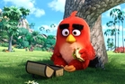 Red (Jason Sudeikis) enjoys lunch alone in the park in Columbia Pictures and Rovio Animation's The Angry Bird Movie. Photo / Rovio Animation