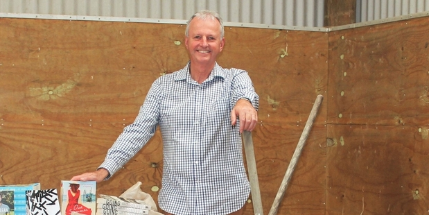 THE SETTING: David Hedley, whose business, Hedley's Bookshop, is the driving force behind Yarns in Barns, sets the scene for this year's festival. PHOTO/SUPPLIED