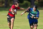 Whaka's Te Rangi Fraser slid over for three tries against Opotiki at Puarenga Park on Saturday. Photo / Stephen Parker