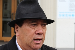 Sonny Tau, outside Southland District Court, has apologised after admitting a lie over who shot five protected birds. Photo / Allison Beckham