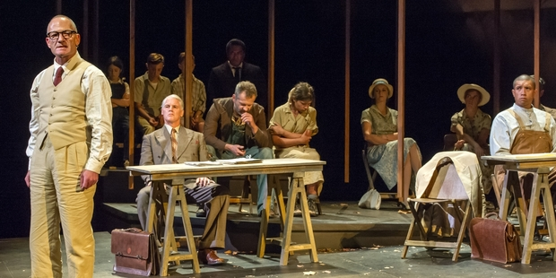 Simon Prast as Atticus Finch spearheads the racially charged narrative of  To Kill A Mockingbird . Photo / Michael Smith