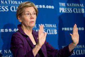 Senator Elizabeth Warren has got into a verbal spat with Donald Trump. Photo / AP