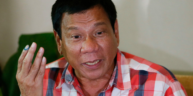 Front-running Philippines presidential candidate Mayor Rodrigo Duterte. AP photo / Bullit Marquez