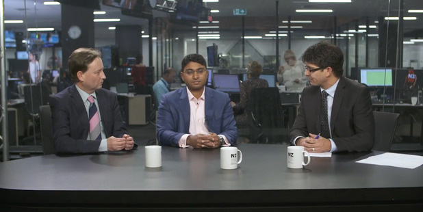 Loading David Snell (left) and Shamubeel Eaqub discuss the new loan-to-income ratios with Liam Dann on The Economy Hub.