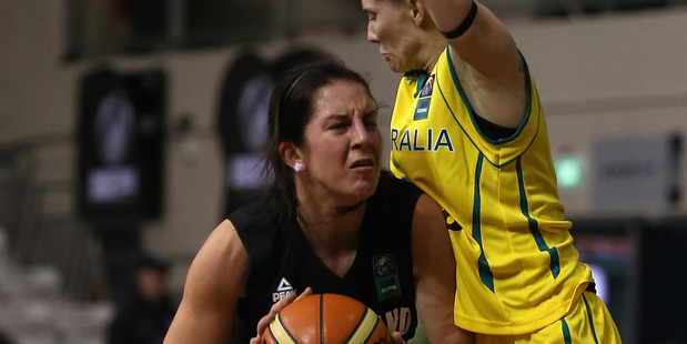 Micaela Cocks handles the ball during the Women's FIBA Oceania Championship. Photo / Getty Images