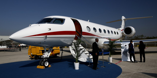 The private jet of choice for the world's elite: the Gulfstream G650. Photo / Getty